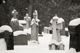 Ottawa  Canada  Beechwood Cemetery Snow-Covered Gravestone