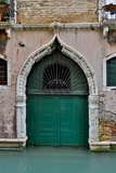 Green Doorway  Venice  Italy