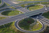 Aerial View of Road Highway Junction Huelva Province  Spain