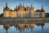 Sunset over the Massive Chateau de Chambord  Loire-Et-Cher  France