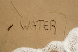 California  Santa Barbara Co  Jalama Beach  Water Written in Sand