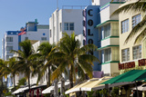 Art Deco Area with Hotels  Miami  Florida  USA