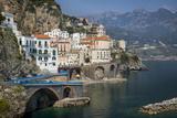 Seaside Town of Atrani Near Amalfi  Campania  Italy