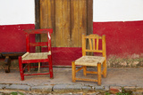Mexico  Jalisco  San Sebastian del Oeste Rustic Door and Chairs