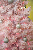 Pink Frosted Christmas Tree  Palm Springs  California  USA