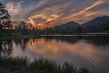 USA  Colorado  Rocky Mountain National Park Sprague Lake at Sunset