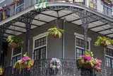 French Quarter  New Orleans  Louisiana Flower Boxes on Balcony Rails