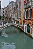 Venice  Italy Canal with Arched Bridge
