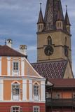 Romania  Transylvania  Sibiu  Piata Mare Square  Building and Church