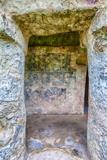 Tulum  Remnants of Mayan Paintings Playa del Carmen  Yucatan  Mexico