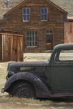 Derelict Vintage Truck and Old Buildings  Bodie Ghost Town  California