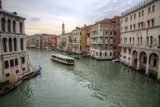 Vaporetto  Water Bus Along the Grand Canal  Venice  Italy