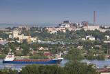Romania  Danube River Delta  Tulcea  Freighter on the Danube River
