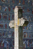 Romania  Bucovina  Sucevita  Sucevita Monastery  Frescoes and Cross