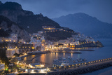 Twilight over Amalfi Along the Amalfi Coast  Campania  Italy