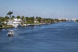 Ft Lauderdale  Florida Intracoastal Waterway Looking North