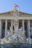 Parliament Building and Statues  Vienna  Austria