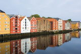 Trondheim  Norway  Old Warehouses Now Homes over the River