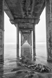 USA, California, La Jolla, Scripps Pier, Sunrise Papier Photo par John Ford
