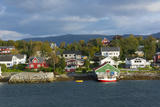 Bronnoysund  Norway  Colorful Fishing Houses and Homes from Water