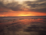 California  San Diego  Sunset over Tide Pools on the Pacific Ocean