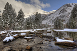 USA  California  Sierra Nevada Range Spring Snow at North Lake