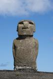 Chile  Easter Island  Hanga Nui Rapa Nui  Ahu Tongariki Moi Statue