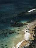 USA  Hawaii  Kauai  Kayakers Along the Na Pali Coast