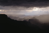Dramatic Weather over the Grand Canyon  Yaki Point  Arizona