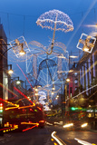 Oxford Street and Christmas Lights  London  UK