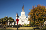 USA  LA  New Orleans Jackson Square St Louis Cathedral Plaza d' Armas
