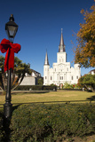 LA  New Orleans Jackson Square St Louis Cathedral Plaza d' Armas