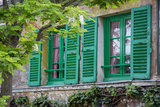 Green Shuttered Window on Lapin Agile  Montmartre  Paris  France