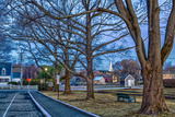 Prescott Park and Mechanic Street in Portsmouth  New Hampshire