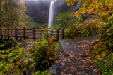 South Falls in Autumn at Silver Falls State Park  Silverton  Oregon