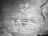 Texas  Hueco Tanks State Park Pictograph of Tlaloc Indian Rain Deity