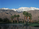 USA  California  Palm Springs  Reflection of San Jacinto Range in Lake