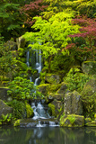 Heavenly Falls  Portland Japanese Garden  Portland  Oregon  USA