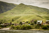 Idaho  Hells Canyon Reach of Snake River  a Cluster of Homes