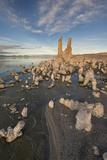 Tufas at Sunset on Mono Lake  Eastern Sierra Nevada Mountains  CA
