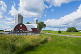 Eau Claire  Wisconsin  Farm and Red Barn in Picturesque Farming Scene