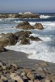 Waves Along Monterey Peninsula  California Coast  Vertical Image