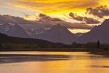 Sunset  Oxbow  Mount Moran  Grand Teton National Park  Wyoming  USA