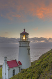Heceta Head Lighthouse at Sunset Near Florence  Oregon  USA