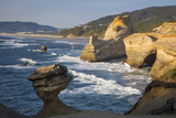 Rock Formations Along the Coast at Cape Kiwanda  Oregon  USA