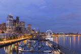 USA  Washington  Seattle Night Time Skyline from Pier 66
