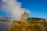 Nevada  Black Rock Desert  Fly Geyser Erupting