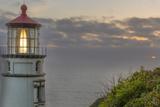 Heceta Head Lighthouse at Sunset Near Florence  Oregon  USA