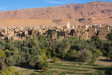 Morocco  Tinghir Oasis and Village with Beautiful Mountains with Trees