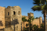 Rabat Morocco Beautiful Kasbah Udaya at Sunset with Palm Trees